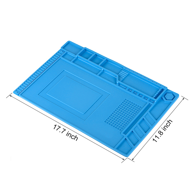 ESD Heat Insulation Soldering Working Mat With Magnet Silicone Insulation Pads
