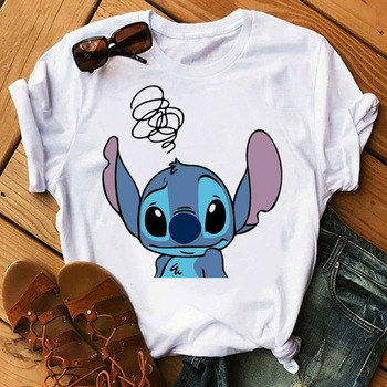 2020 Lilo-Stitch T-shirt Funny Stitch Combine Chick Fil A Graphic Tee Unsex Chick-fil-a Shirt Hipster Tops 1