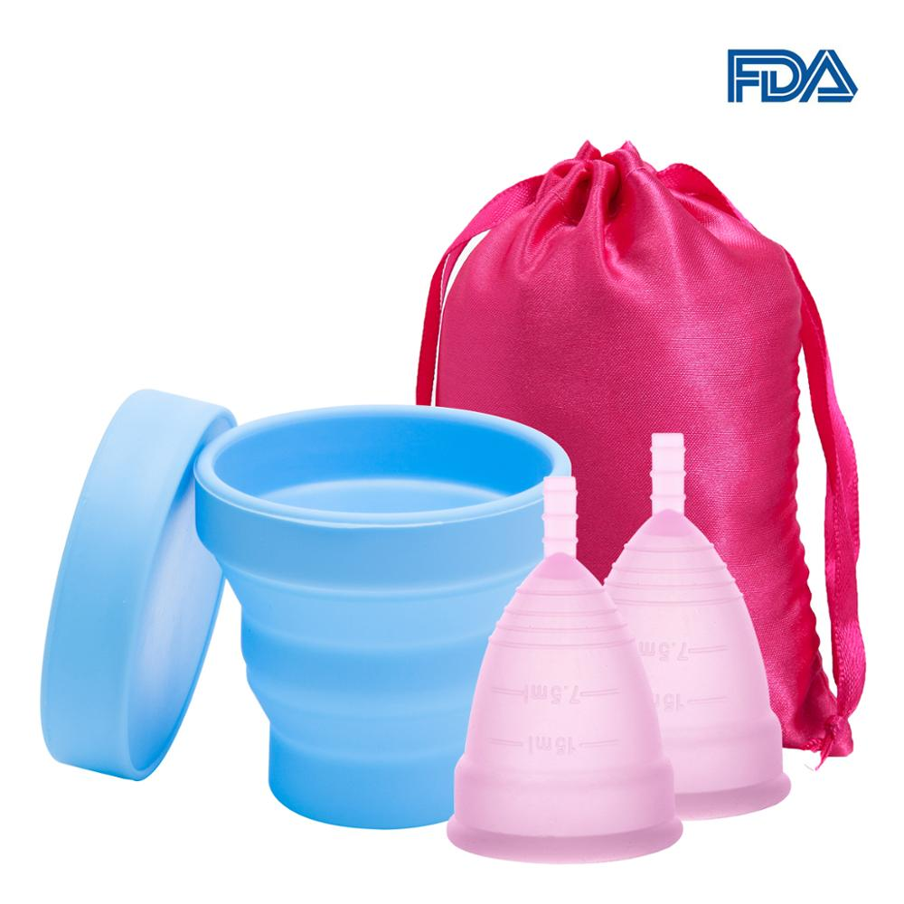 Feminine Hygiene Menstrual Cup Medical Silicone Menstrual Cup Sterilizer Women Lady Cup Sterilizing For Women Menstrual Period