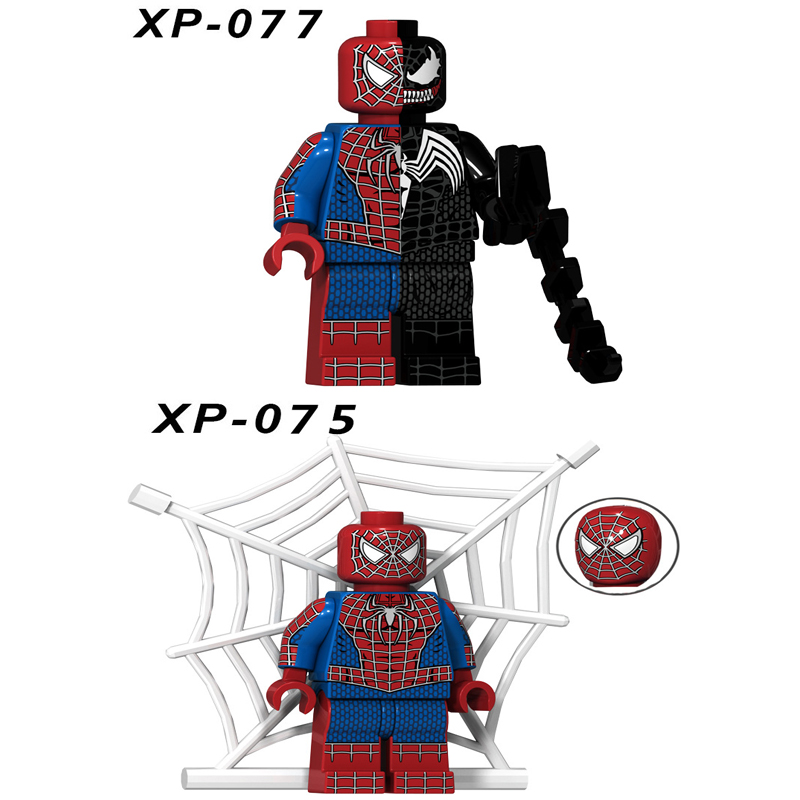 Single Sale Super Heroes Star Wars Spiderman Models Mini Building Blocks Figure Bricks Toys Kids Gift Compatible Legoed Ninjaed