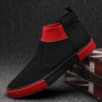 Men Casual Shoes Sneakers Breathable High Top Canvas Shoes Men Espadrilles Slip on Flats 2020