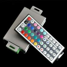 44key zestaw pilotów zdalnego sterowania jasność regulowana podczerwień Mini do taśmy LED uniwersalna z RGB Box Dimmer aluminium Wireless(China)