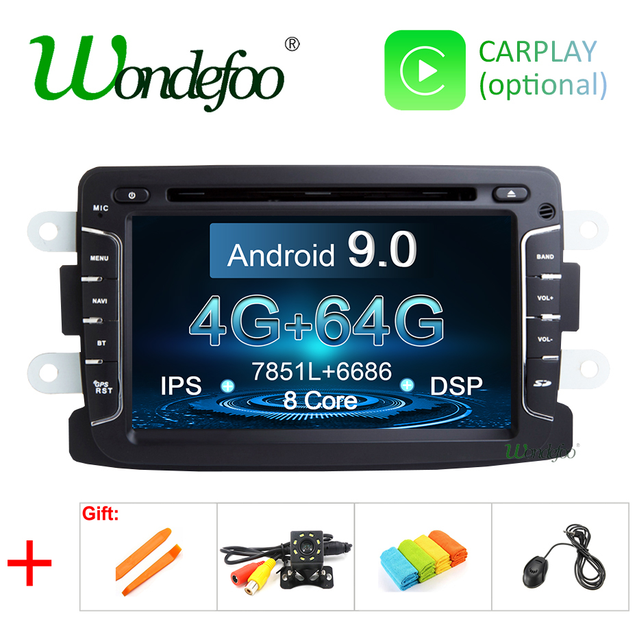 IPS DSP Android 9 0 4G 64G CAR GPS For Dacia Sandero Duster Captur Lada Xray