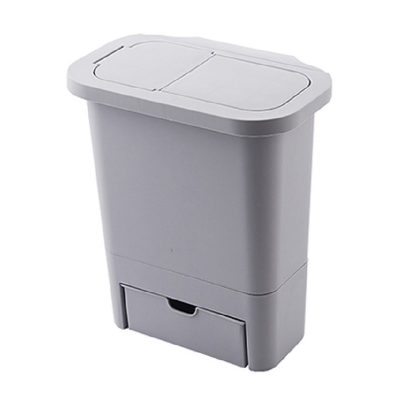 Hanging Trash Can with Lid Kitchen Cabinet Door and Wall-Mounted Waste Baskets 2