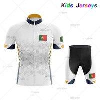 2019 portugalia dzieci lato kolarstwo zestaw koszulek rower mtb odzież rowerowa odzież rowerowa górska odzież Maillot Ropa Ciclismo Green w Zestawy rowerowe od Sport i rozrywka na