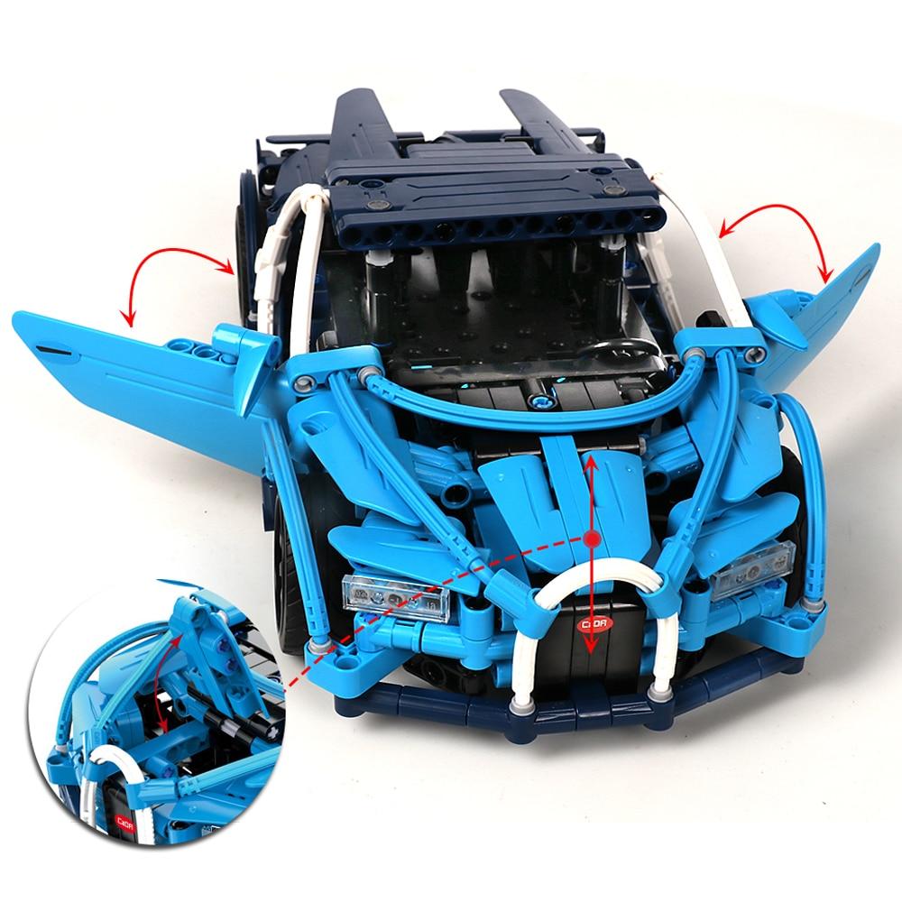 Image 5 - legoed bugatti chiron legoed technic car building blocks toy bricks model building rc remote control car technical toys for boys-in Blocks from Toys & Hobbies