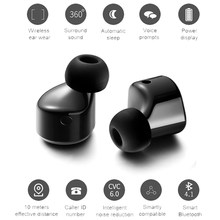 T1 Twins Wireless Bluetooth Earphone Mini Invisible Cordless Bluetooth CSR 4.1 Earbuds Anti-fall Headset with Mic(China)