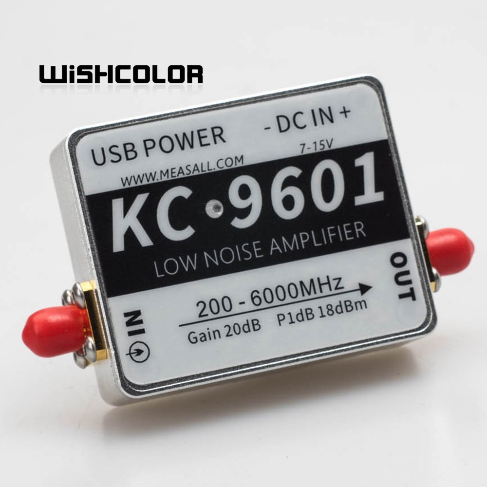 6GHz 20dB NF 1.3dB RF Low Noise Amplifier Module KC9601 5.8G RF Amplifier Standard SMA image