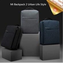원래 Xiaomi Mi 배낭 2 도시 생활 스타일 17L 용량 어깨 가방 배낭 데이 팟 학교 더플 백 14 인치 노트북에 적합