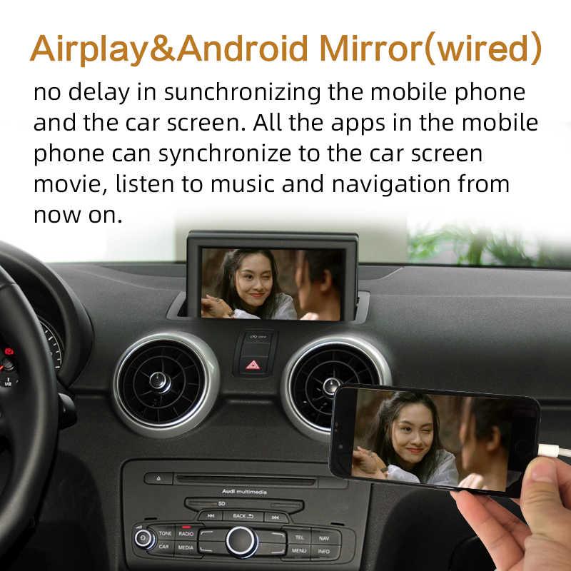 2020 WIFI kablosuz Apple Carplay Audi A1 A3 A4 A5 A6 A7 A8 Q2Q3 Q5 Q7 C6 MMI 3G RMC 2010-2018 iOS Android yansıtma otomatik