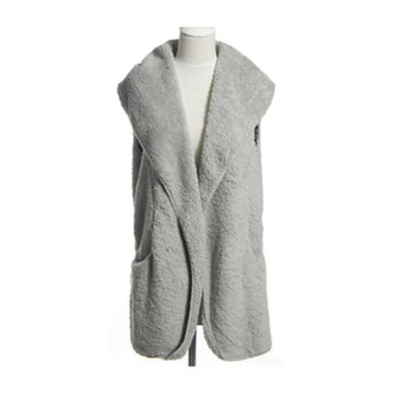 2020 Women Fashion Solid Color Casual Warm Vests Winter Lamb Sleeveless Bow-knot Vest Warm Outwear Clothes