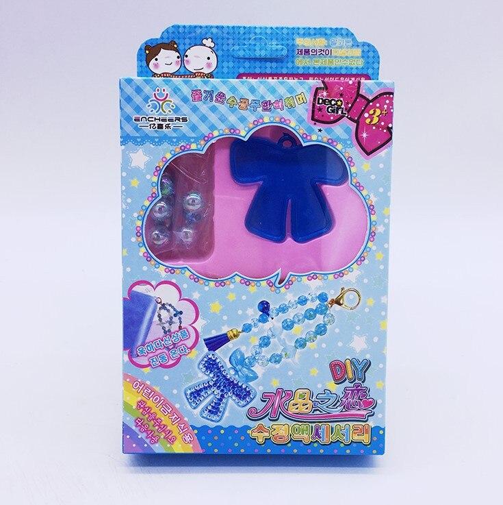 South Korea DIY Pendant Educational Handmade Crystal Hanging Decoration Material Box Children Bead Toy GIRL'S Wear Beads Bracele