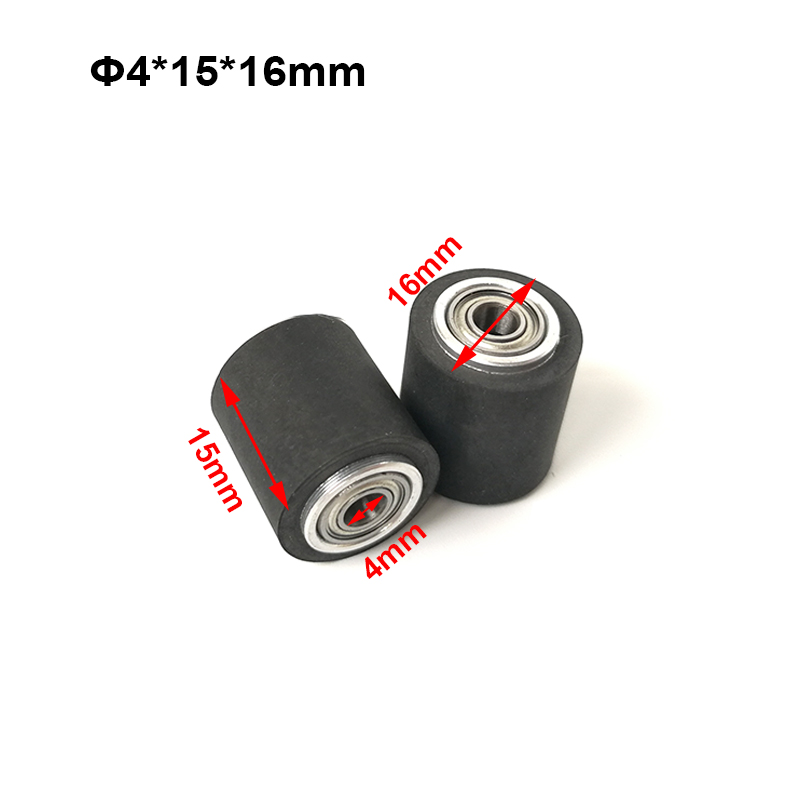 10pcs Pinch Roller Roland Graphtec Cutok DC240 Inkjet Printer Vinyl Cutter Cutting Plotter Roll 4x15x16mm Rubber