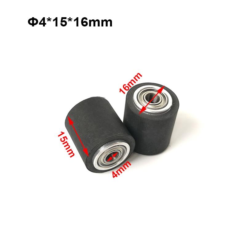 10pcs Pinch Roller Roland Graphtec Cutok DC240 Inkjet Printer Vinyl Cutter Cutting Plotter Roll 4x15x16mm Rubber