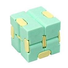 1 pçs crianças adulto brinquedo de descompressão infinito cubo mágico quebra-cabeça brinquedos aliviar o estresse engraçado jogo de mão quatro canto brinquedos labirinto abs