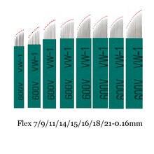 Caneta caneta microagulhada 100mm, agulhas chanfrada 0.16mm, microagulhamento permannet, com 12/15 peças