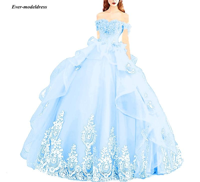Hot DealsñBall-Gown Corset Quinceanera-Dresses Princess-Off-The-Shoulder Sweet Beaded Vestidos-De-15-Aos