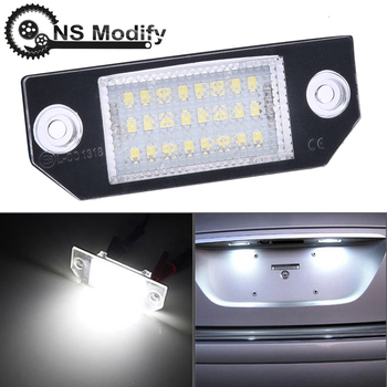 Accesorios para el Exterior, luz de matrícula de coche de luz LED de matrícula de 12V modificada NS para Ford Focus C-MAX 03-08 MK2 de 2003 a 2018
