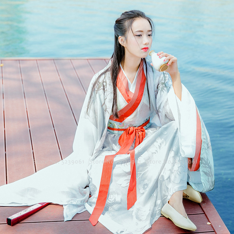 Chinese Traditional Hanfu Gowns Tang Suit Girls Drama Party Stage Performance Dress Women Festival Outfits Robes Ancient Costume