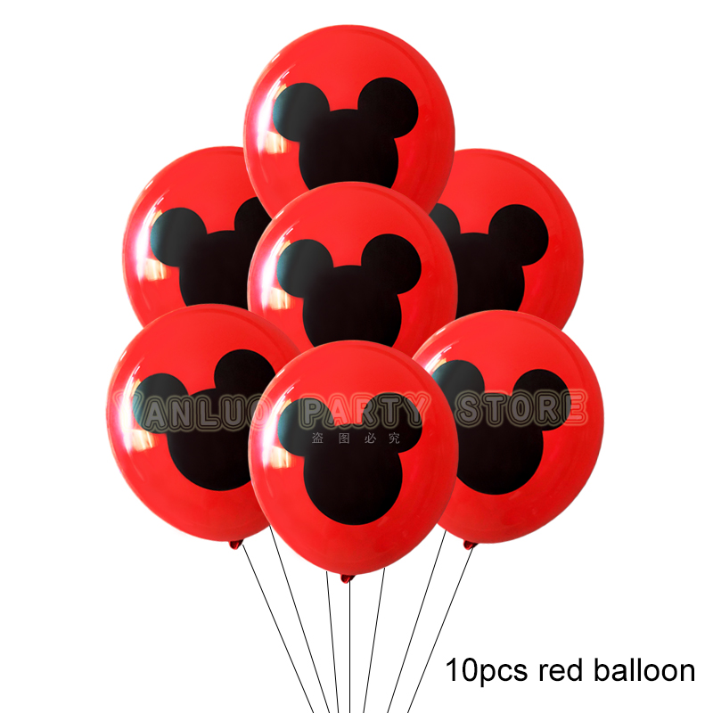 10pcs Mickey Mouse Party Latex Balloons For Adult Birthday Party Decorations 3