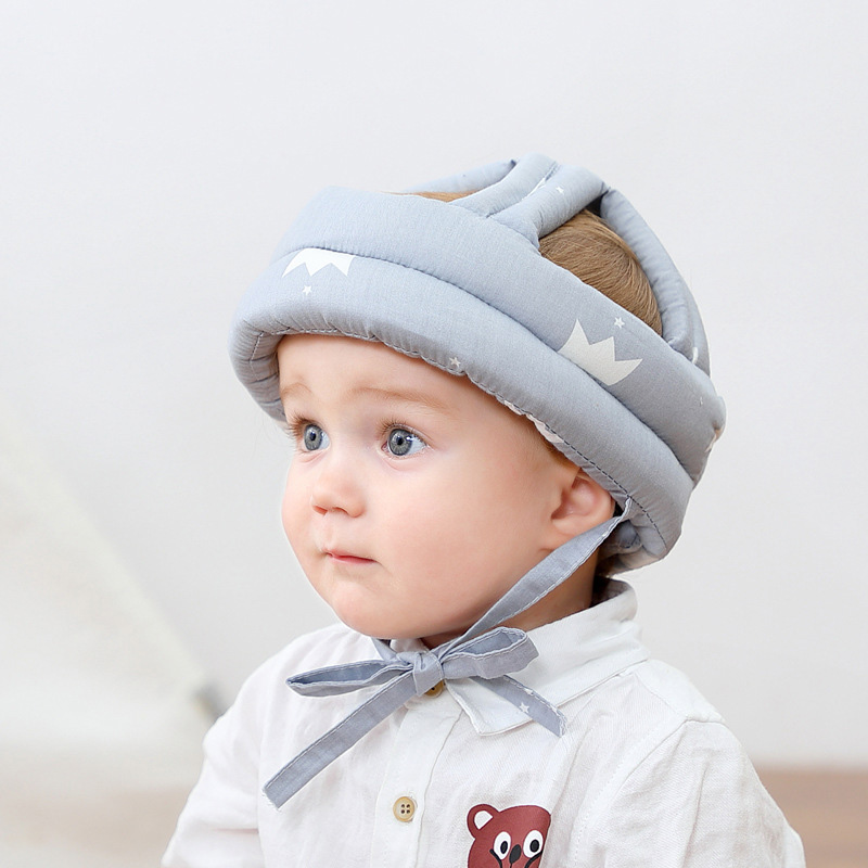Adjustable Baby Hat Protective Anti-collision Safety Helmet Baby Cap Toddler Kids Hat for Girl Boy Accessories Cotton Mesh 6M-5Y 04