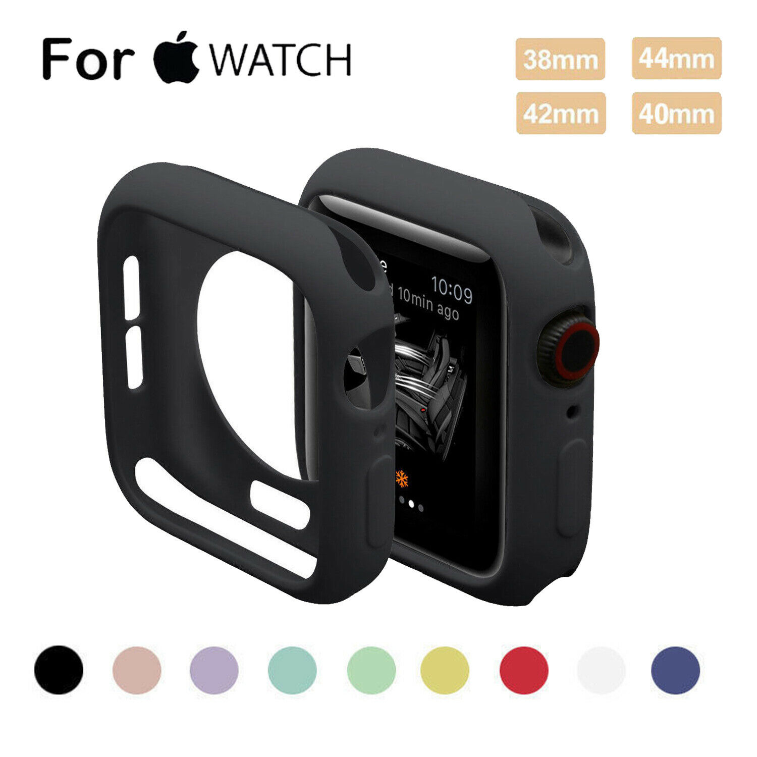 Bumper For For Apple Watch Series 4 3 2 1 Bumper Silicone Protector Case Cover 38/40/42/44mm