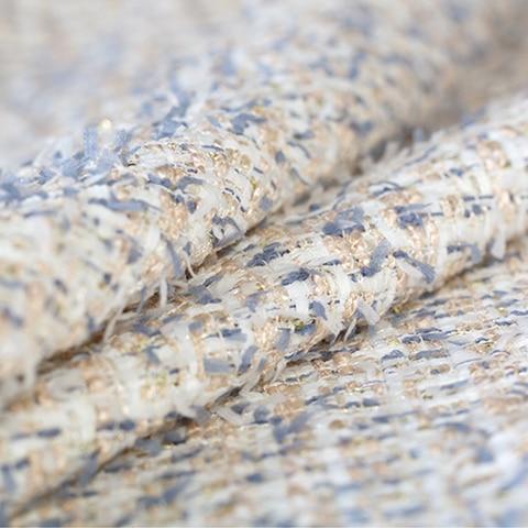 Tecido de Tweed Macio para Cabolsa Venda Quente Partysu Azul Lantejoulas Saia Bazin Riche Getzner Tissu Telas Tissus Stoffen Tela Tecida Diy Céu