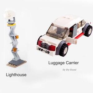 Image 3 - Sluban 0370 Stad Serie Luchtvaart Medische Ambulance Vliegtuigen Truck Auto Cijfers Educatief Bouwstenen Speelgoed Voor Kinderen Gift