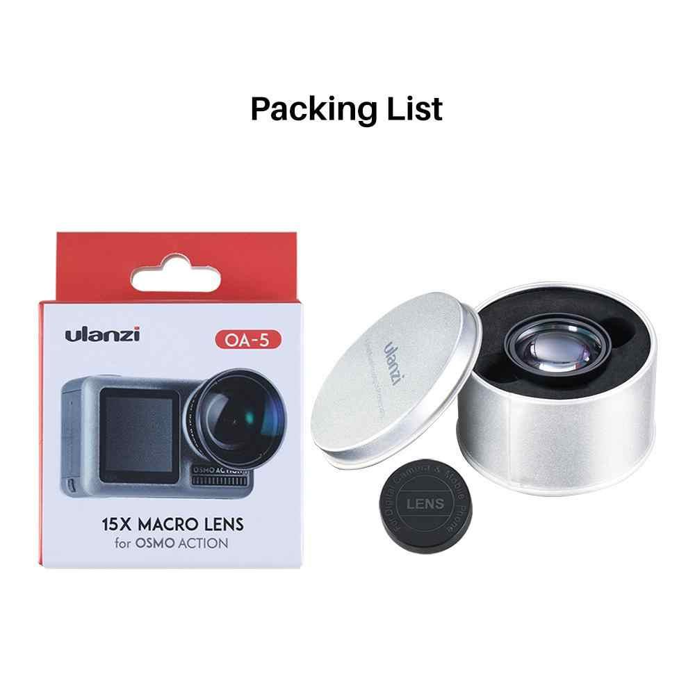 BEESCLOVER Ulanzi OA-5 Macro lente de la cámara para Dji Osmo acción Macro lente de acción accesorios Macro lente de la cámara 35mm r60
