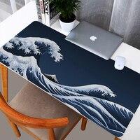 Alfombrilla de ratón de gran onda japonesa para Gaming, accesorios grandes para escritorio, alfombra de mesa Xxl, 900x400