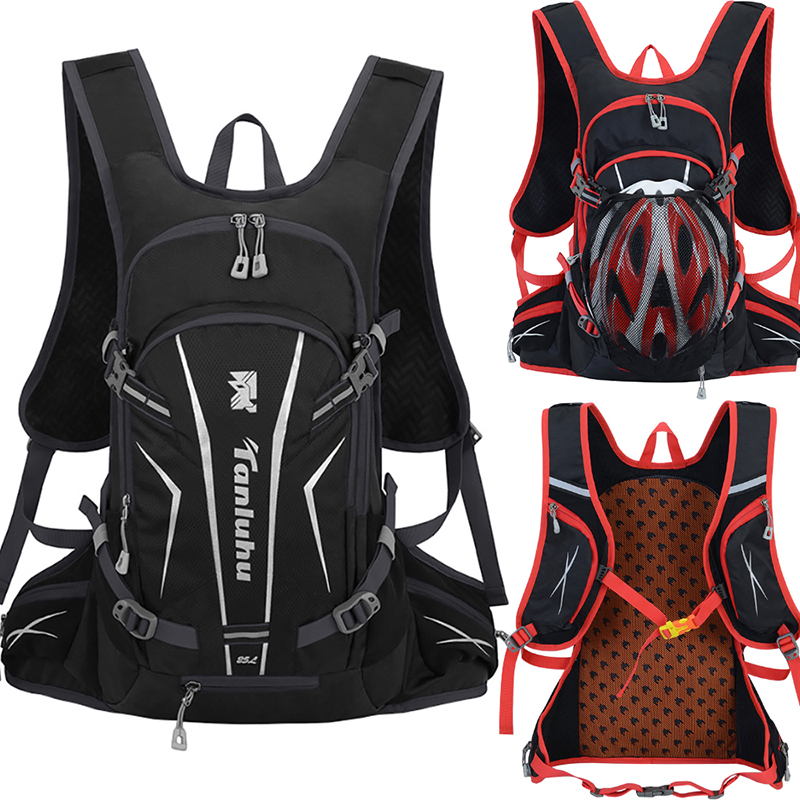 25L Outdoor Sport Cycling Run Water Bag Helmet Storage Hydration Backpack UltraLight Hiking Bike Riding Pack Bladder Knapsack