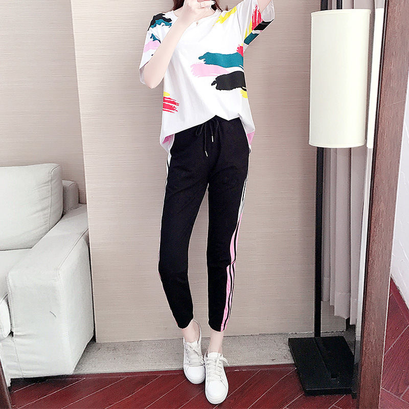 Summer New Sports Suit Women Fashion Loose Foreign Casual Streetwear Women Club Outfits Short Sets
