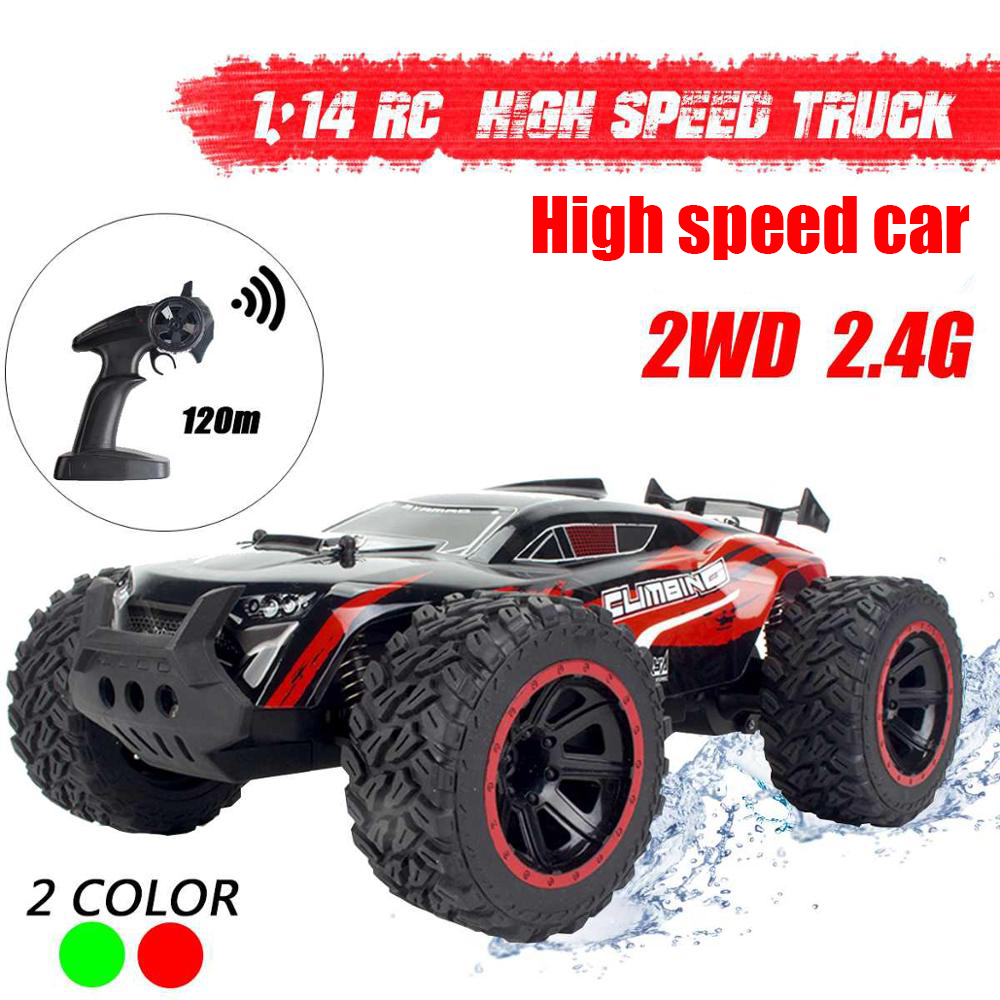 High Speed 2WD 1/14 RC Car Remote Control Off Road Racing Cars Vehicle 2.4Ghz Crawlers Electric Monster Truck Toys Gift for Boys