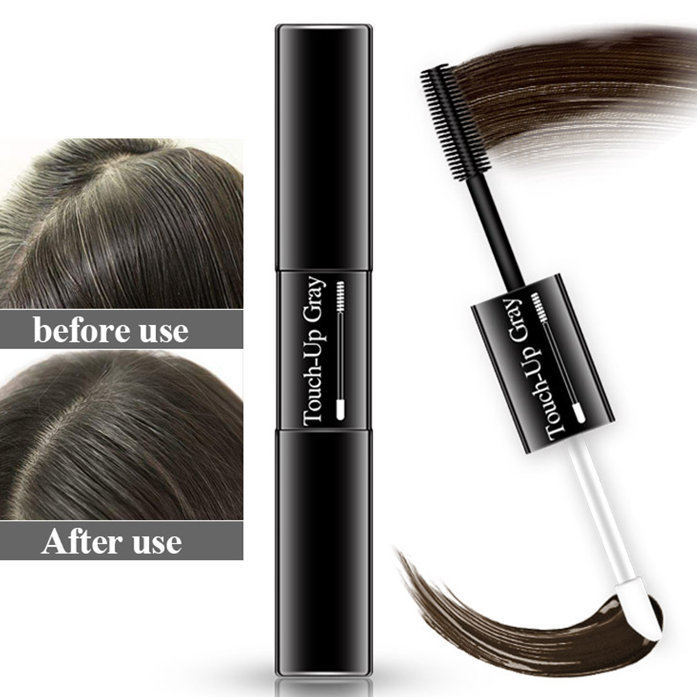 7ml Styling Single Use Portable Instant Dark DIY Double Head Gray Easy Apply Root Coverage Coloring Soft Temporary Hair Dye Pen image