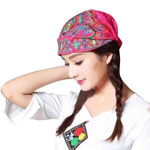 Venda quente Mulheres Estilo Mexicano Étnico Bordado Do Vintage Flores Bandanas Impressão Vermelho Chapéu шапка женская меховая dropshipping
