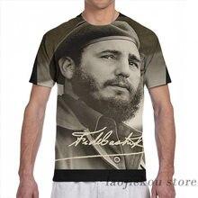Fidel men t-shirts mulheres por todo o lado impressão moda menina t camisa menino camisetas de manga curta