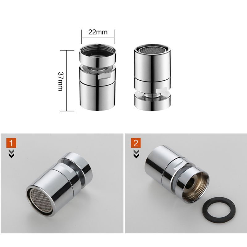 New Brass Water Saving Tap Faucet Aerator Sprayer Attachment with 360-Degree Swivel 2019 4