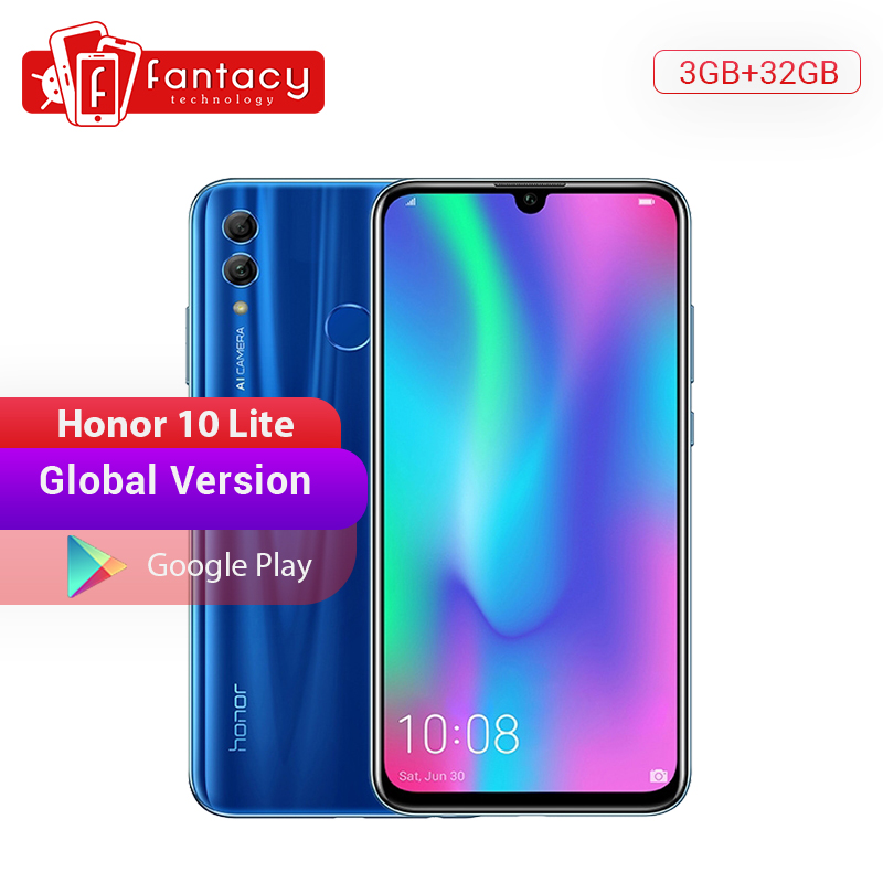 Global Version Honor 10 Lite Smartphone Kirin 710 Octa Core 6.21'' 24MP Front Camera Mobile Phone Android 2340×1080P Google Play