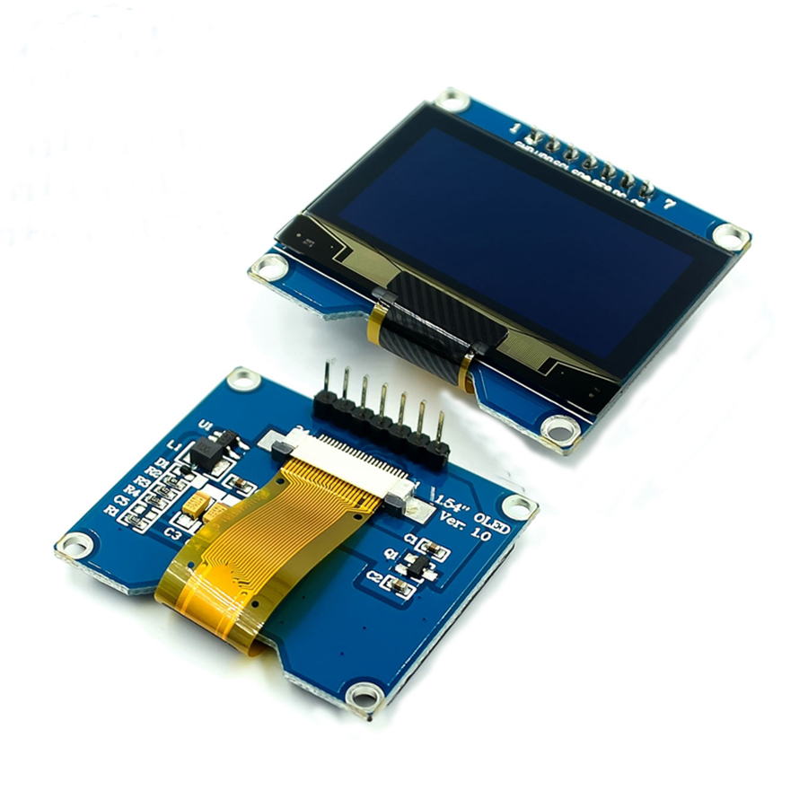 1.54 Inch 128X64 OLED LCD Display Module White Color SSD1309 1.54inch 12864 SPI/IIC I2C Serial Interface OLED LCD LED Display