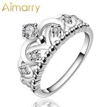 Aimarry 925 стерлингового серебра aaa Циркон Корона Кольца для