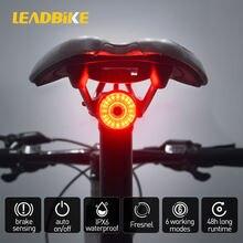 Leadbike умный велосипед хвост сзади светильник Автоматическое