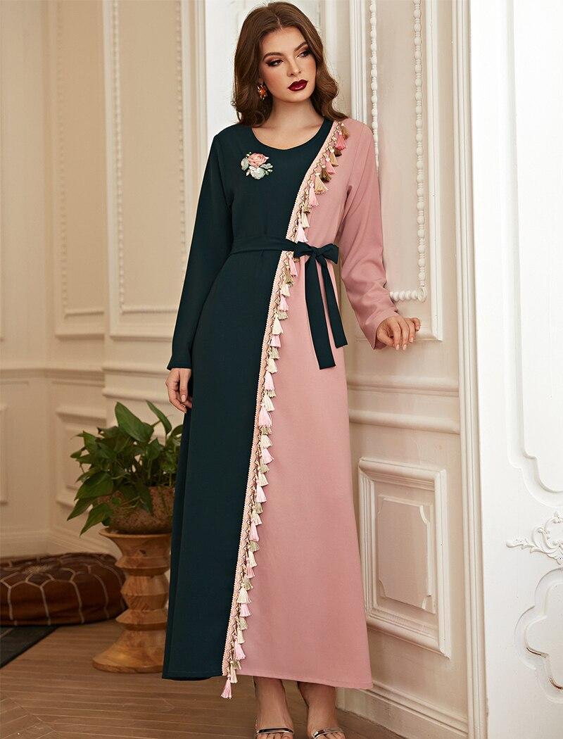 Turkey Muslim Abayas Dresses for Women Arabic Hijab Dress Islamic Clothing