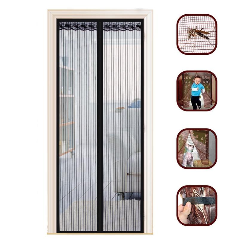 Hands-free Magnetic Mosquito Net Door Net Anti Mosquito Insect Fly Door Screen Magnetic Curtain Mesh for Door Kitchen Curtains