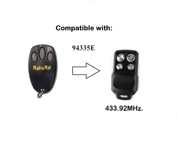 433.92MHz Rolling Code 94335E Garage Door Remote Control Replacement Remote Control Duplicator
