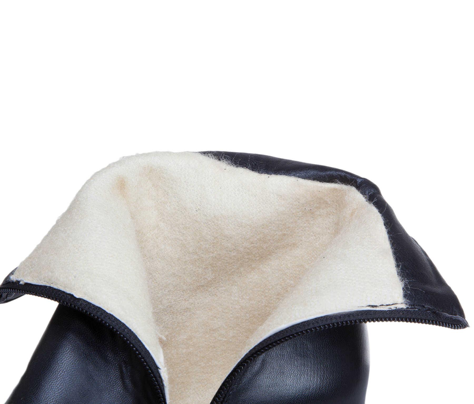 Bayan yarım çizmeler yüksek topuklu çizmeler fermuar yuvarlak ayak kış bayan botları beyaz sarı siyah çizmeler kadın 2019 yeni ayakkabı