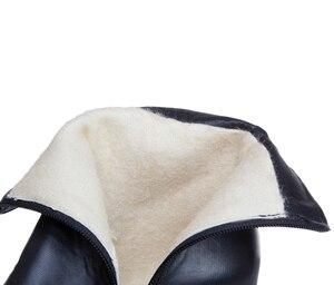 Image 5 - Bottines à talons hauts pour femme, bottines à bout rond avec fermeture éclair, blanc, jaune et noir, nouvelle collection hiver 2019