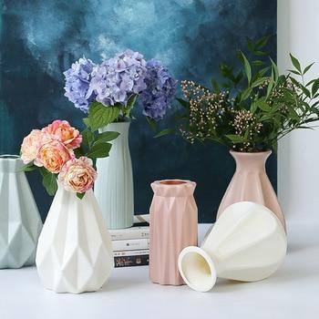 Vase European Home Decoration Anti-ceramic Vase Accessories Plastic Modern Unbreakable Creative Wedding Decoration Flowers 1