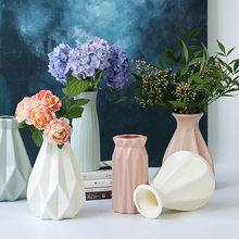 Vase Europäischen Hause Dekoration Anti-keramik Vase Zubehör Kunststoff Moderne Unzerbrechlich Kreative Hochzeit Dekoration Blumen