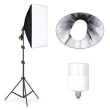 写真撮影50 × 70センチメートルソフトボックス照明キットシステムソフトボックスプロフェッショナル連続ライト使用写真スタジオポートレート撮影