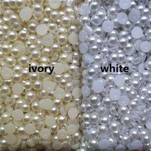 Imitação de contas de pérolas meio redondas, marfim/branco, 3-20mm, acrílico, folgado, para fabricação de jóias diy decoração de artesanato
